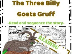 The Three Billy Goats Gruff Reading - Read & Sequence cut and paste