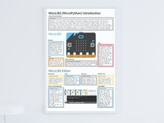BBC Micro:Bit Python MicroPython Poster