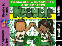 Recycling Readings and Printables (1st/5th Grade)
