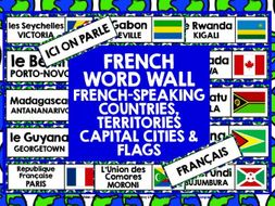 PRIMARY FRENCH: FRENCH-SPEAKING COUNTRIES WORD WALL