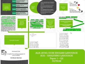 AQA 8700/1 English Language -  Language Analysis