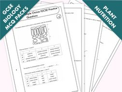 GCSE Biology: Multiple-Choice Topic Question Pack On Plant Nutrition
