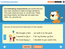 Conjunctions and Clauses Interactive Teaching Presentation - Year 3 Spag