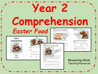 Year 2 non-fiction reading comprehension - Easter Food