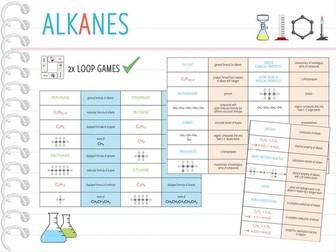 IGCSE Chemistry Topic 24: Alkanes - 2x Loop Games (KS4)