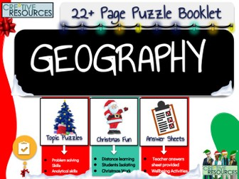 Christmas Geography Puzzle Work Book