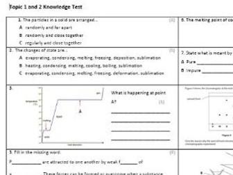 Edexcel CC9 Chemistry Knowledge Assessment