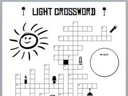 Crossword Puzzle - Light Energy