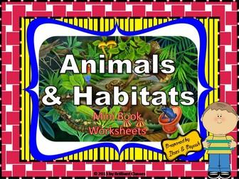 Animal Habitats - Unit with Worksheets