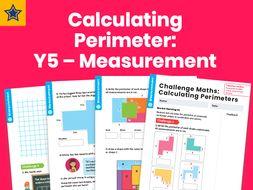 Calculating Perimeter: Y5 – Measurement – Maths Challenge