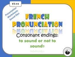 French pronunciation: consonant endings