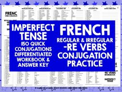 FRENCH -RE VERBS IMPERFECT TENSE