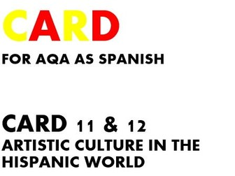 SPEAKING CARDS 11 & 12 for AQA AS SPANISH (new specification)