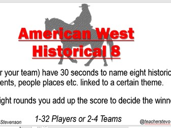 American West Revision Game - Historical Eight