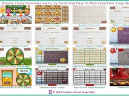 Possibility Modals Kooky Class Spanish PowerPoint Game-An Original by Ernesto