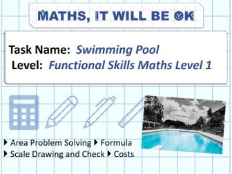 FS Maths Level 1 -Scale - Swimming Pool - Exam Style