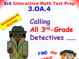 Grade 3 Math Interactive Test Prep – FIND THE UNKNOWN BY MULTIPLYING OR DIVIDING 3.OA.4