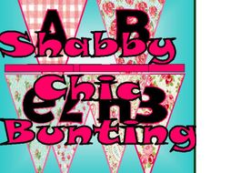 Shabby Chic Bunting Letters Numbers Display Classroom