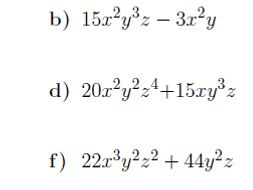 Factoring multivariable expressions worksheet no 2 (with solutions)