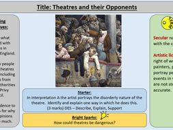 3. Theatre and Opponents -OCR GCE J411 9-1 The Elizabethans 1580-1603 Section 4