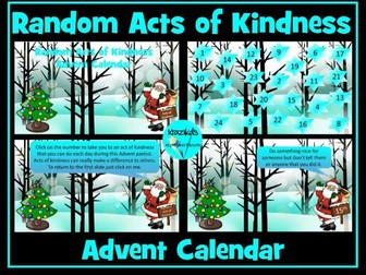 Advent Calendar: Acts of Kindness