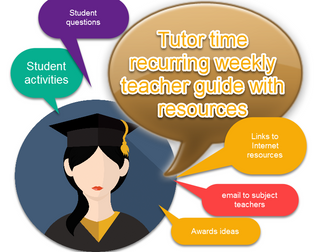 Tutor Time Package - Recurring weekly resources and timetable