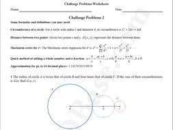 Challenge Problems Worksheets 2