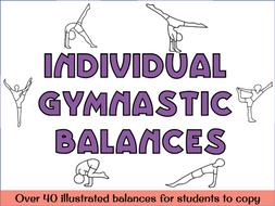 Individual gymnastics balances