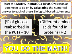 Maths in AQA A-level Biology REVISION
