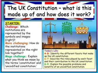 UK Constitution AQA Citizenship