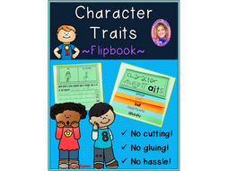 Character Traits DOUBLE-SIDED Flipbook!