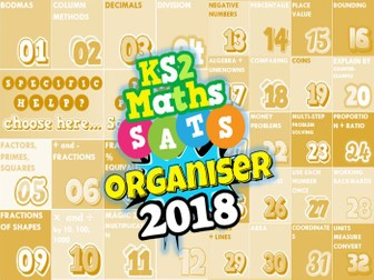 NEW! 2018 KS2 SATs Revision Ultimate 3-in-1 Maths Organiser