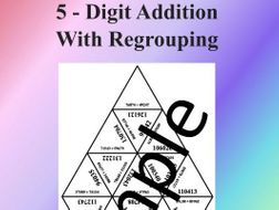 5 - Digit Addition With Regrouping – Math puzzle