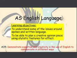 AQA AS English Language Paper 2: Opinion Piece Lesson