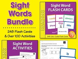 Sight Word Flash Cards & Activities {Bundle}