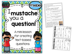 I Mustache You a Question!- Creating Text-Based Questions {Freebie!}