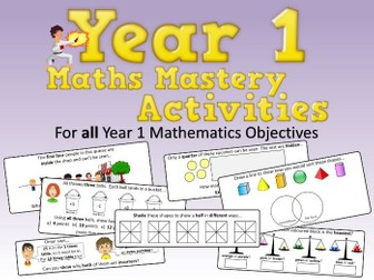 Year 1 Maths Mastery Activities