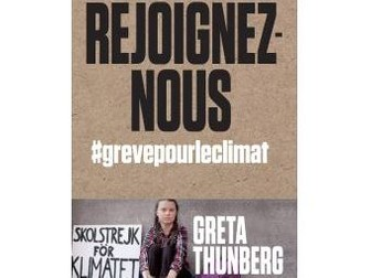 Key words (French/English) to access and analyse 6 speeches from Greta Thunberg on Environment