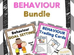 Behaviour Bundle: Trading Cards, Assessment, and Goal-Setting Templates