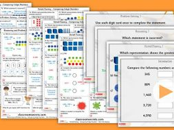 Year 4 Compare 4-digit Numbers Autumn Block 1 Step 9 Maths Lesson Pack