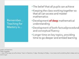 staff introduction to mastery maths or white rose maths powerpoint