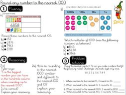 Place value - Round any number to the nearest 1000