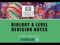 AS/ A-level Biology B - Edexcel (2015) - Complete Set of Revision Notes (AS Year 1)