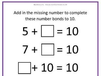 Number Bonds to 10 & 20