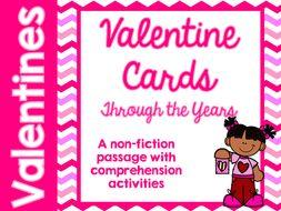Valentine's Day card passage comprehension sheets RI3.1 RI3.3 RI4.1 RI4.3 RI5.1