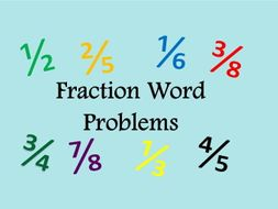 Fraction Word Problems with answers