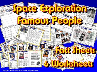 Famous People/ Space KS2/ Astronauts Fact Sheets + Activities