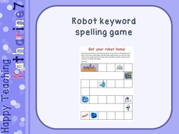 Robot keyword spelling game