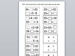 missing number problems  year  inverse addition and subtraction by  missing number problems  year  inverse addition and subtraction