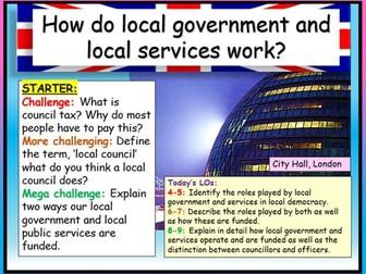 Local Government Edexcel Citizenship GCSE